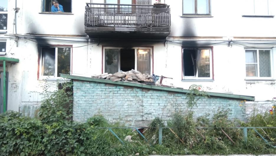 Взрыв газа в Бийске, 31 августа 2019.