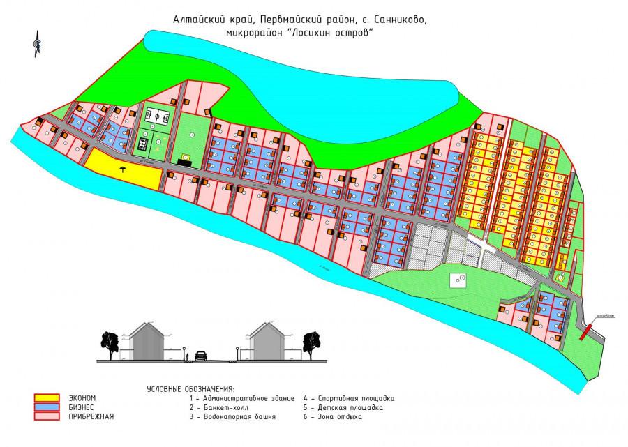Микрорайон «Лосихин остров» (схема).