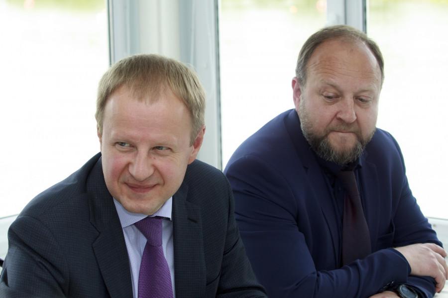 Встреча губернатора Томенко и российских гребцов