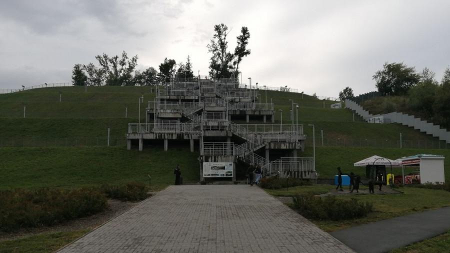 Лестница в Нагорном парке. День города-2019.