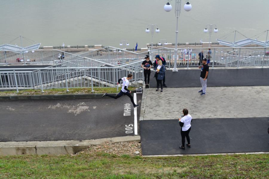 Спортивный марафон в Нагорном парке.