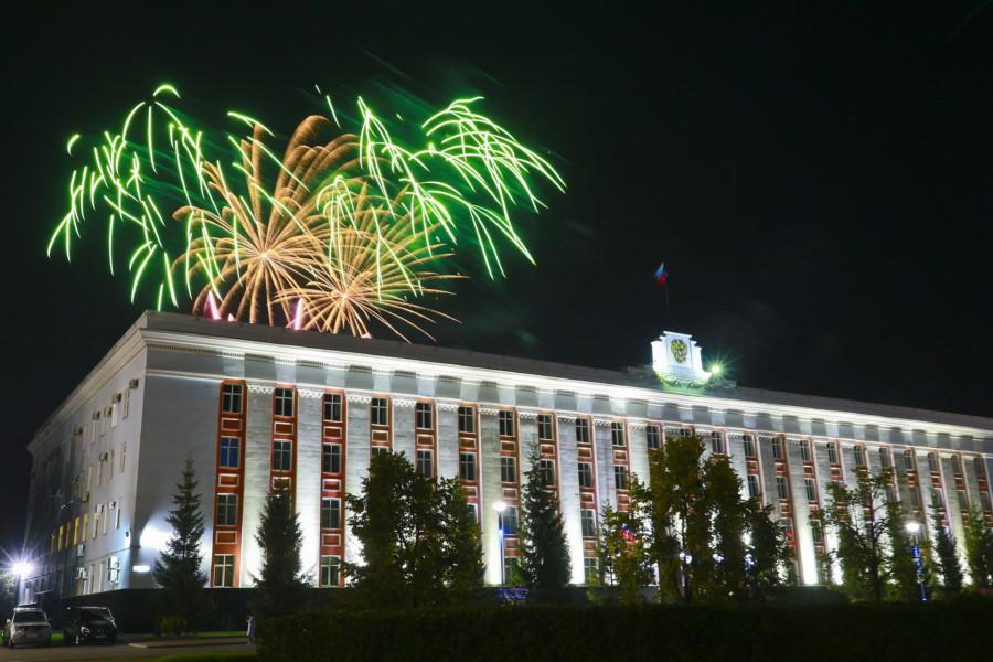 Салют на День города в Барнауле.