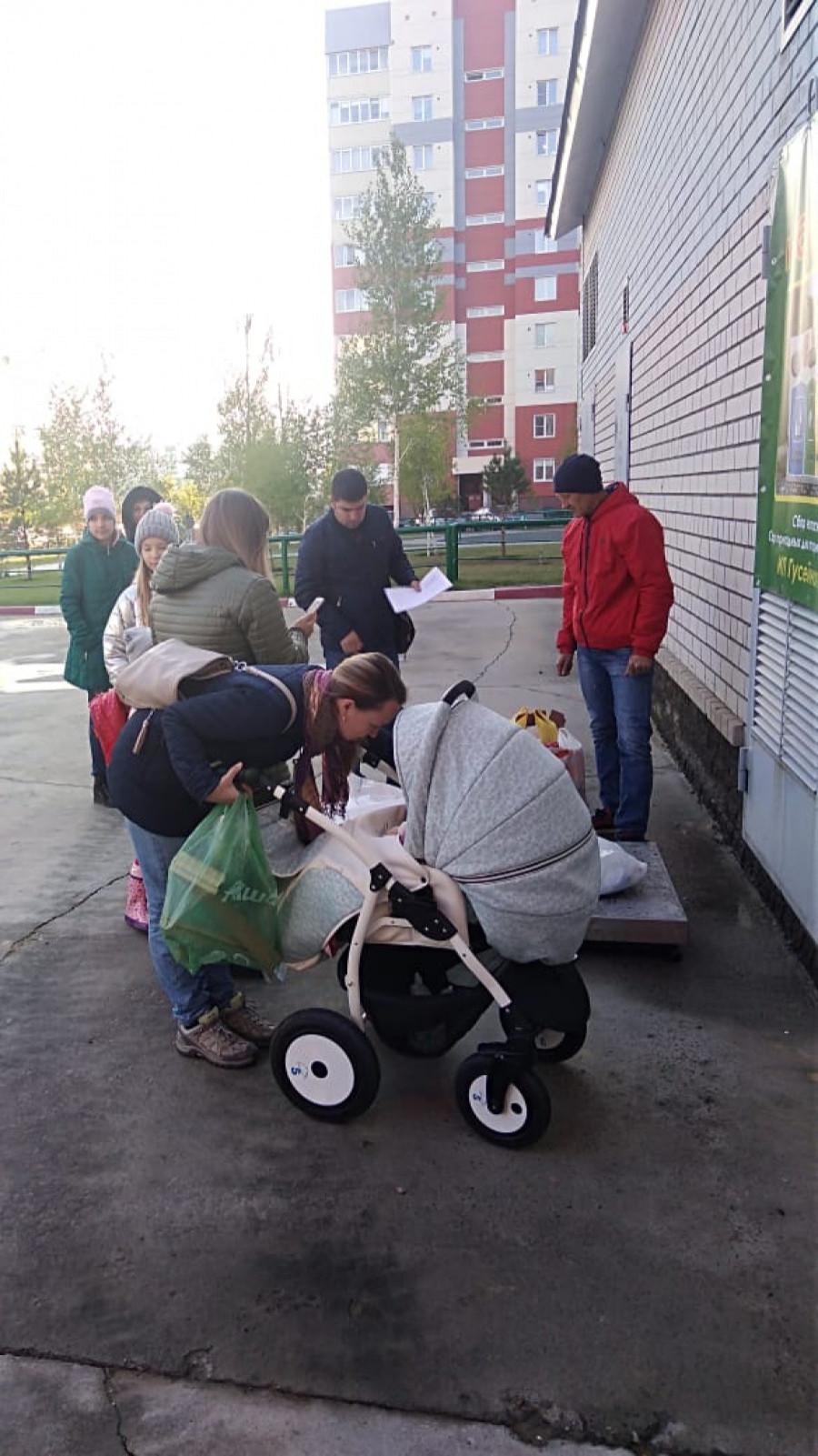 Акция по раздельному сбору Рашада Гусейнова.
