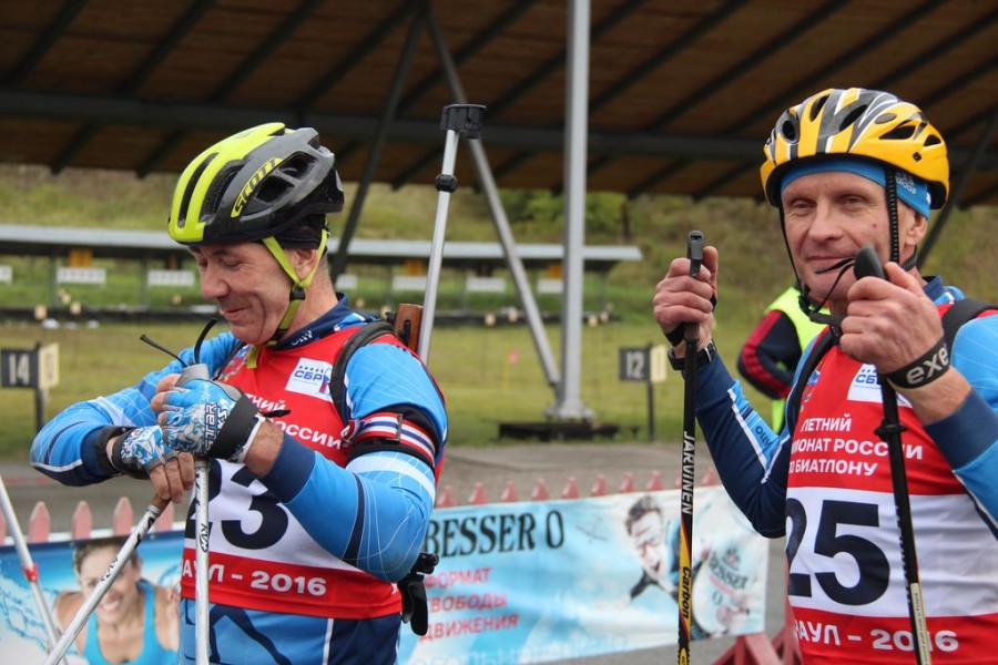 Открытый чемпионат края по летнему биатлону среди ветеранов.