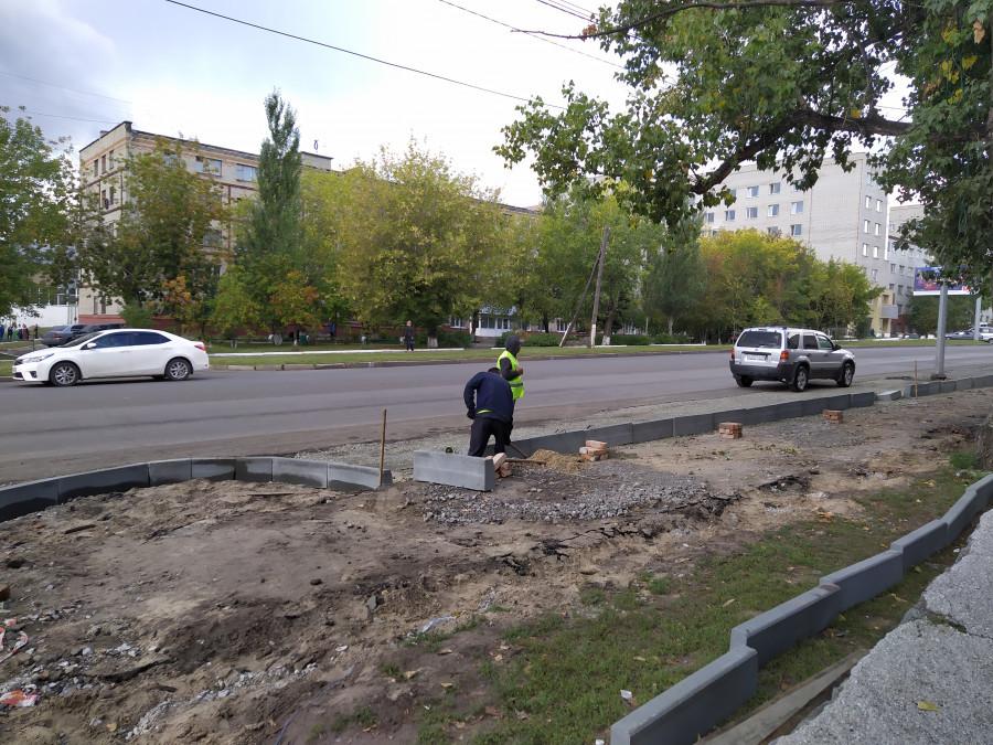 Ремонт проспекта Комсомольского.