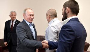 Владимир Путин встретился с Хабибом Нурмагомедовым.