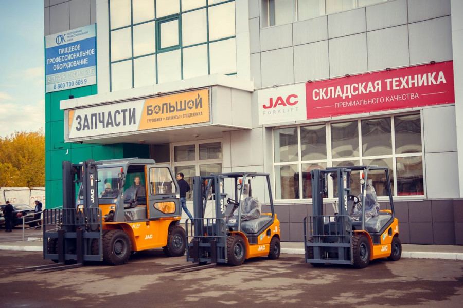 Автосалон складской техники «Желтый слон – Восток».