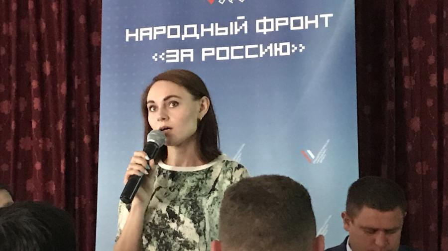 Юлия Оглоблина в Зудилово.