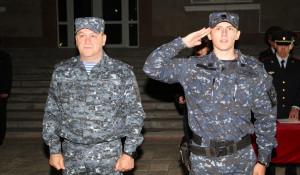 В Барнауле встретили полицейских после командировки на Кавказ.