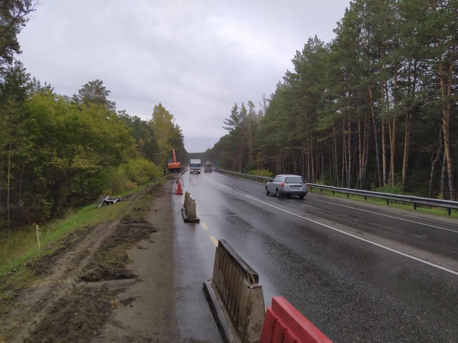 На объездной дороге в Барнауле.