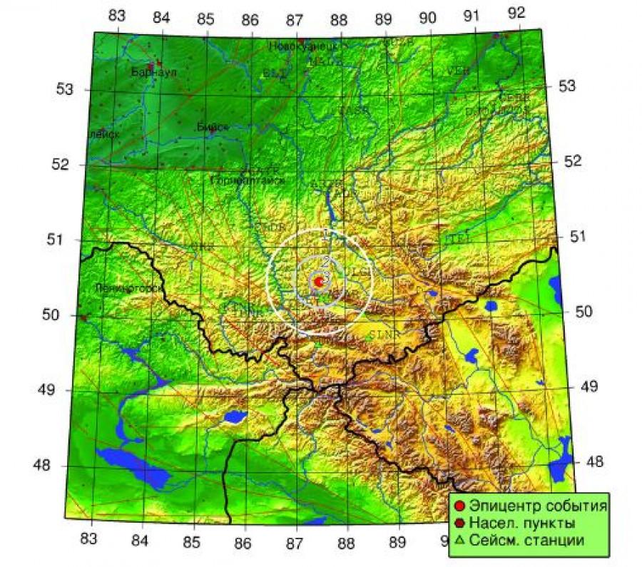 Землетрясение на Алтае 17 сентября.
