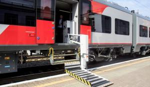 Скоростной поезд «Ласточка» в Барнауле.