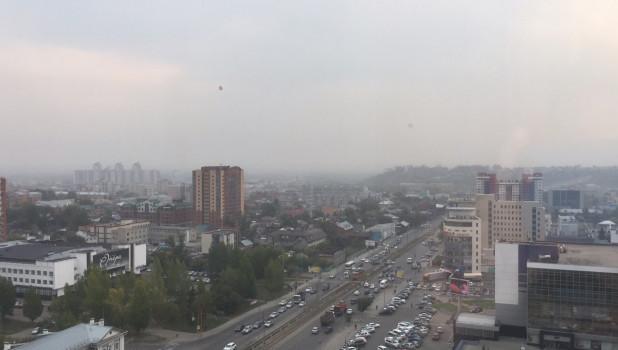 Дымка над Барнаулом.
