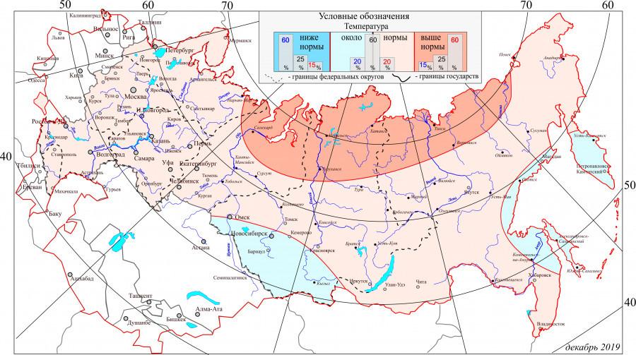 Вероятностный прогноз температурного режима на отопительный период 2019/2020.
