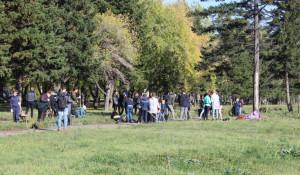 Субботник в парке Победы.