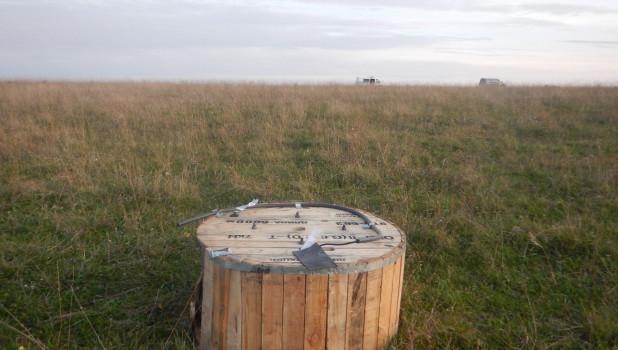 В поле украли катушку с оптоволокном