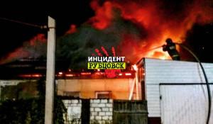 Пожар в Рубцовске.