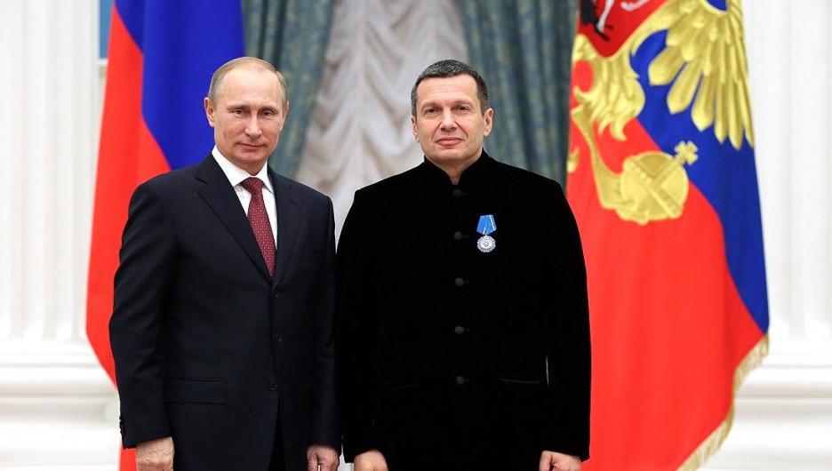Владимир Путин и телеведущий Владимир Соловьев.