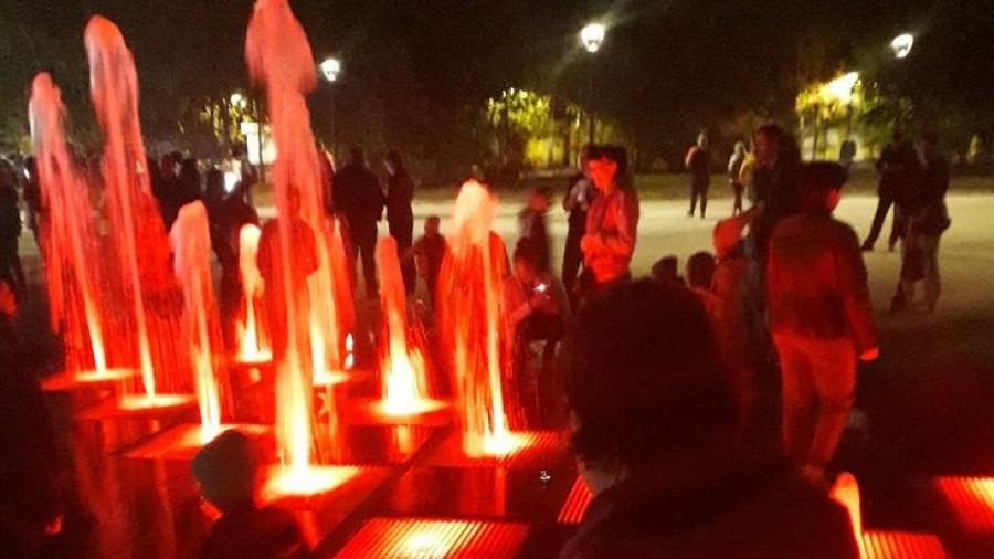 Светодинамический фонтан.