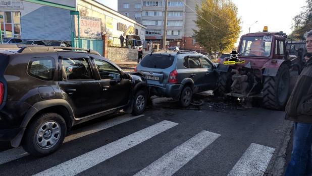 Авария на ул. Эмилии Алексеевой.