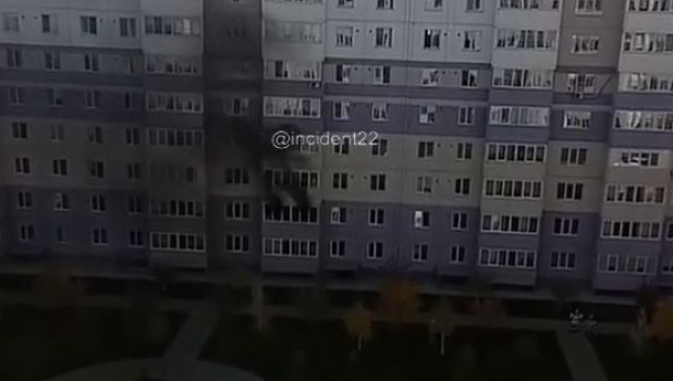 Пожар на балконе.
