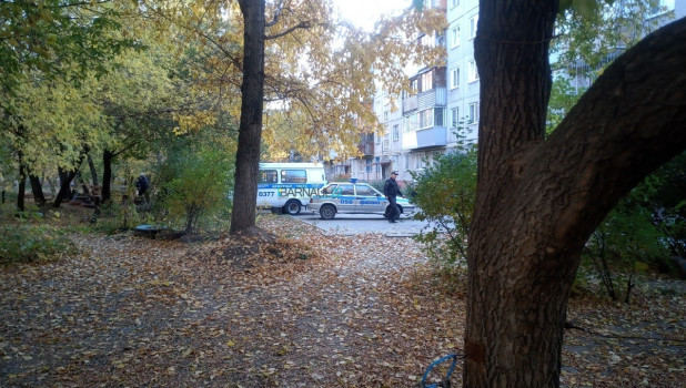 """Обезвреживание """"мины"""" в Барнауле."""
