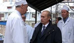 Владимир Путин и врачи.
