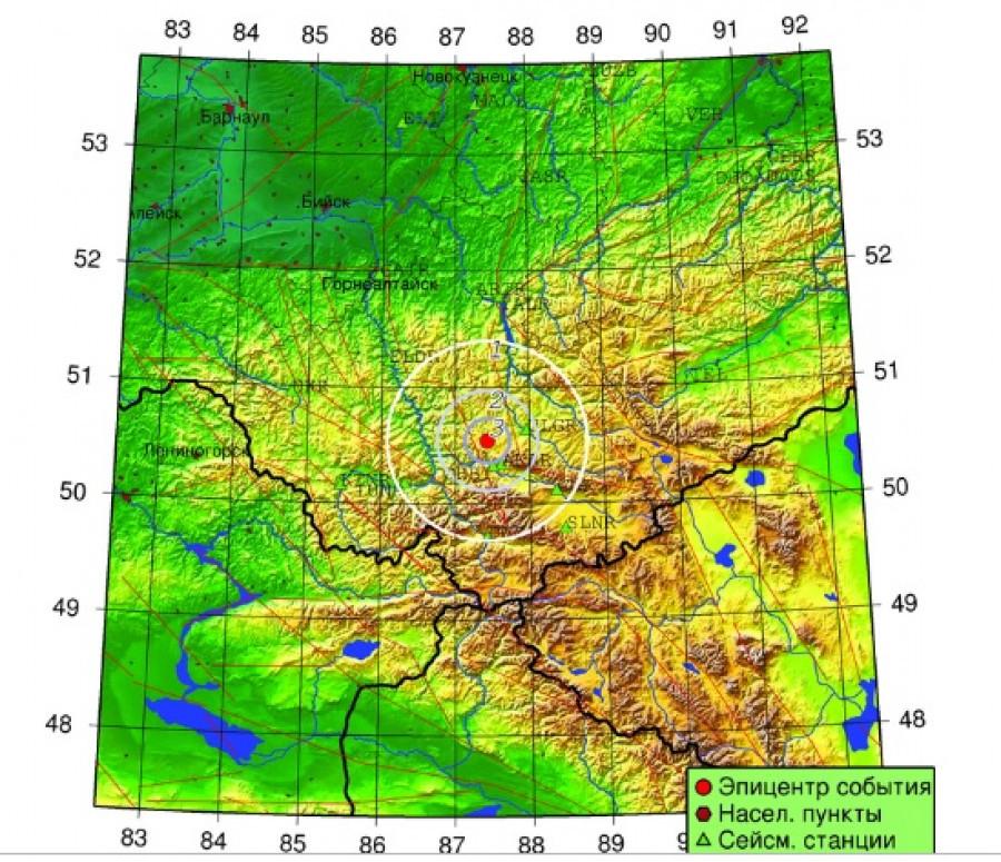 Землетрясение в Республике Алтай 11 октября.