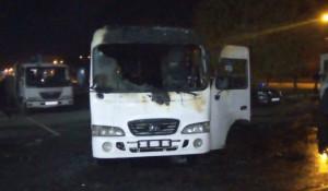 В Барнауле сгорел автобус