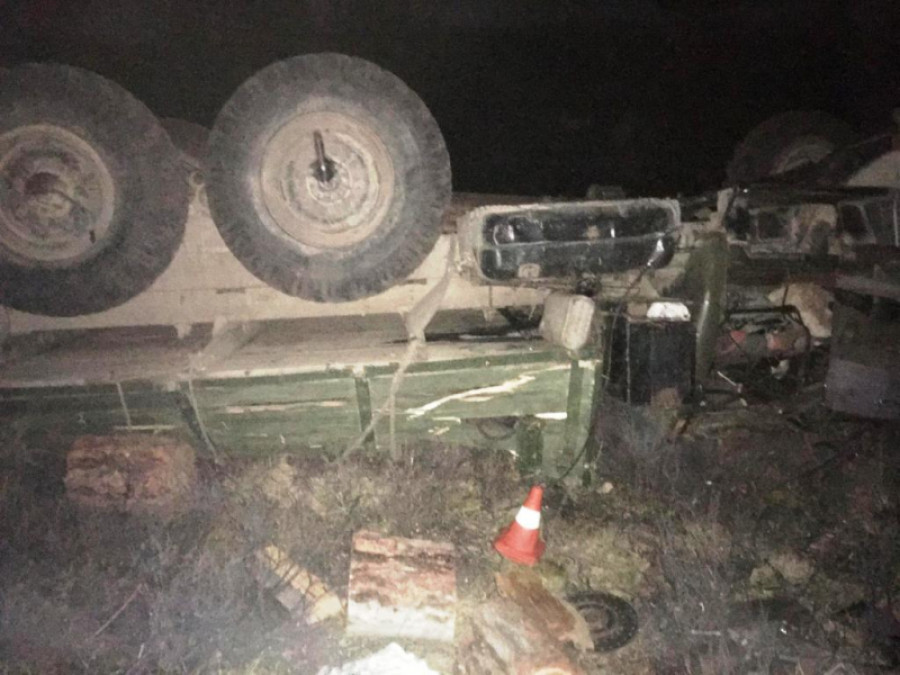 Смертельное опрокидывание грузовика в Горном Алтае.