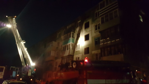 Пожар в доме на улице Г. Исакова.