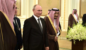 Владимир Путин с королем Саудовской Аравии.