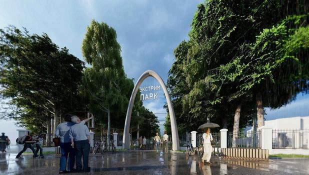 Проект парка на Аллее ветеранов.