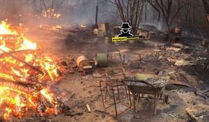 Пожар в Калманском районе.