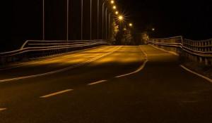 Ночная дорога.