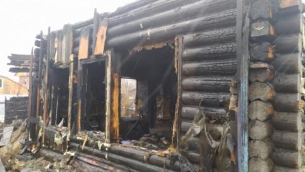 Пожар в частном доме Новосибирска