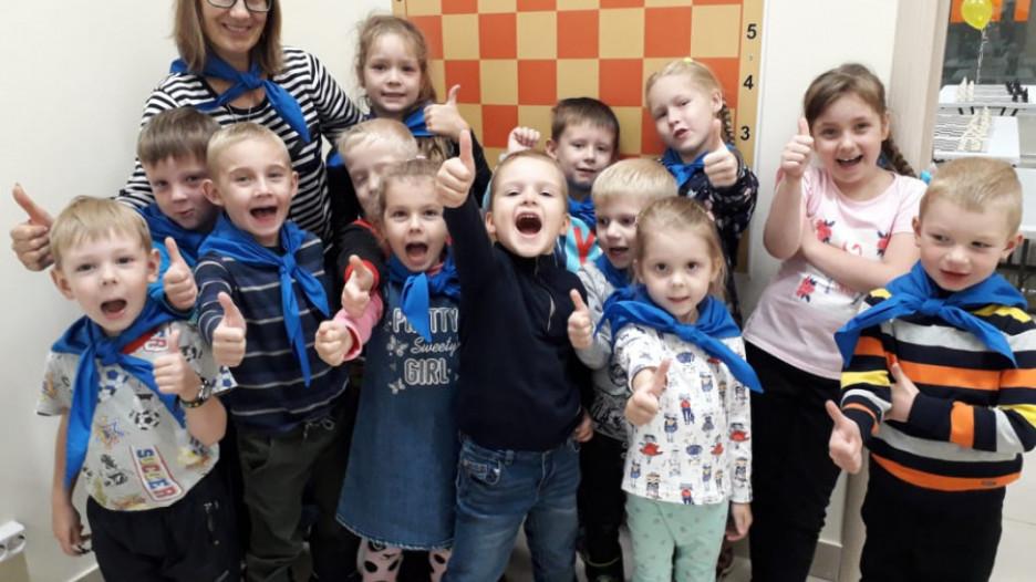 Юные ученики Академии шахмат Алтайского края.