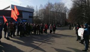 "Митинг в Барнауле ""За зеленый Барнаул""."