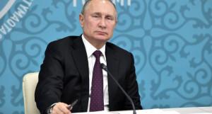 Владимир Путин на форуме межрегионального сотрудничества России и Казахстана.