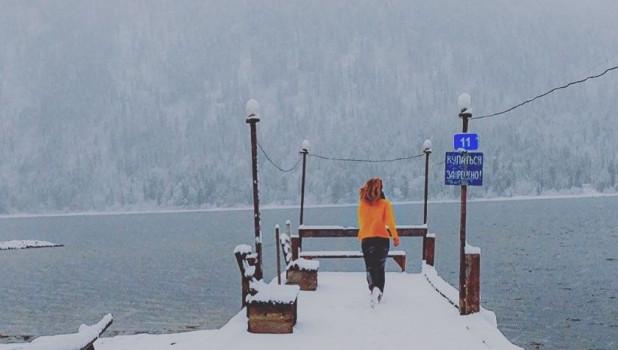 Снег на Алтае.