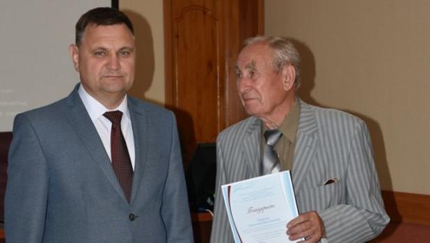 Ректор АлтГТУ Андрей Марков и Анатолий Тюняев, июнь 2019.