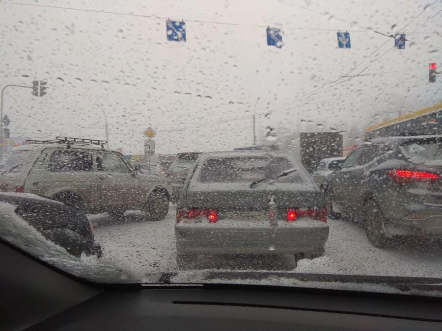 Пробка на трассе Барнаул - Новосибирск, 12 ноября 2019.