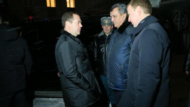 Дмитрий Медведев прибыл в Барнаул, ноябрь 2019 год.