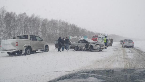Авария на трассе Барнаул - Павловск.
