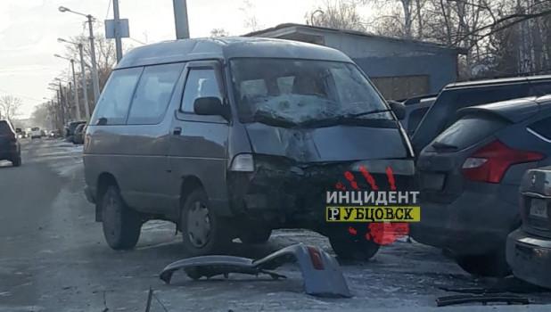 Массовое ДТП в Рубцовске.