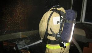 Пожар в квартире в Бийске.