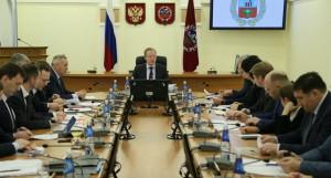 Совещание в правительстве Алтайского края.