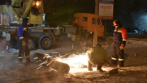 Коммунальная авария в Новосибирске.
