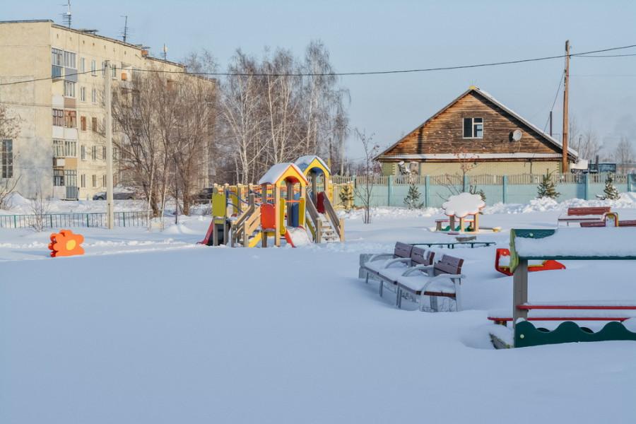 Детская площадка в Санниково, куда водили Дмитрия Медведева.