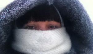 Сибиряки в морозы.